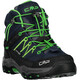 CMP Campagnolo Rigel Mid WP Trekking Shoes Juniors Black Blue-Gecko